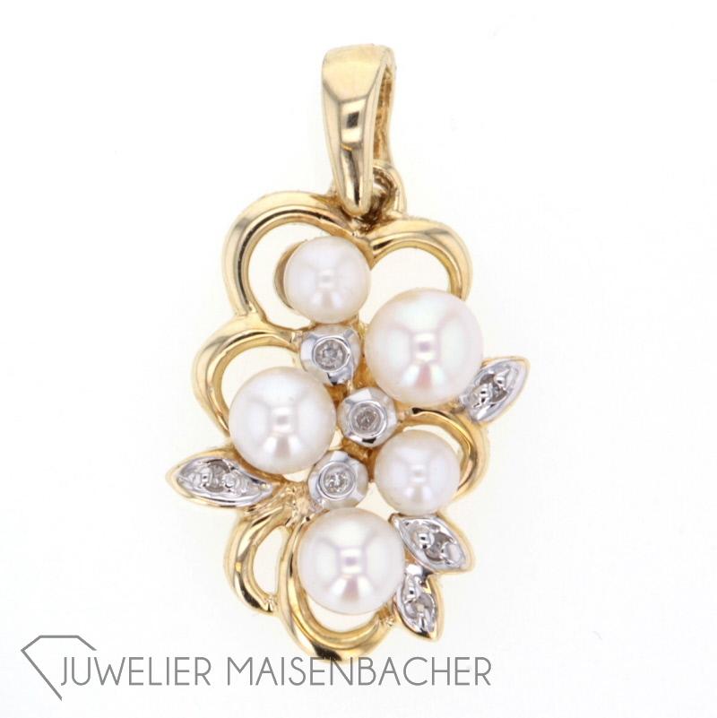 anh nger mit perlen diamanten jetzt online kaufen juwelier maisenbacher. Black Bedroom Furniture Sets. Home Design Ideas