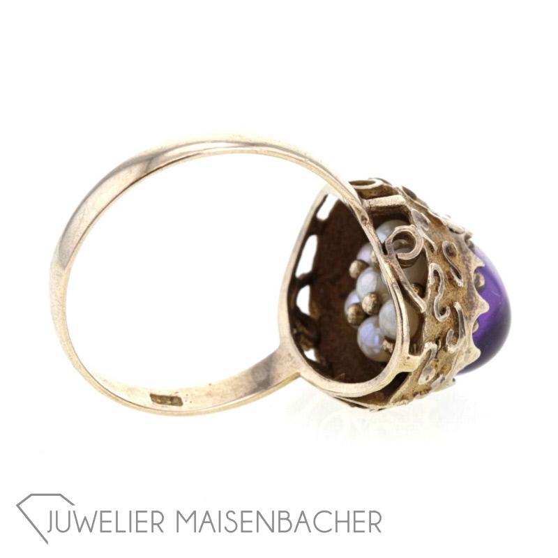 antik ring mit amethyst perlen jetzt online kaufen juwelier maisenbacher. Black Bedroom Furniture Sets. Home Design Ideas