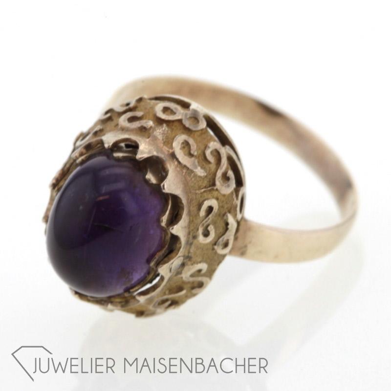 Antik Ring Mit Amethyst Perlen Jetzt Online Kaufen Juwelier