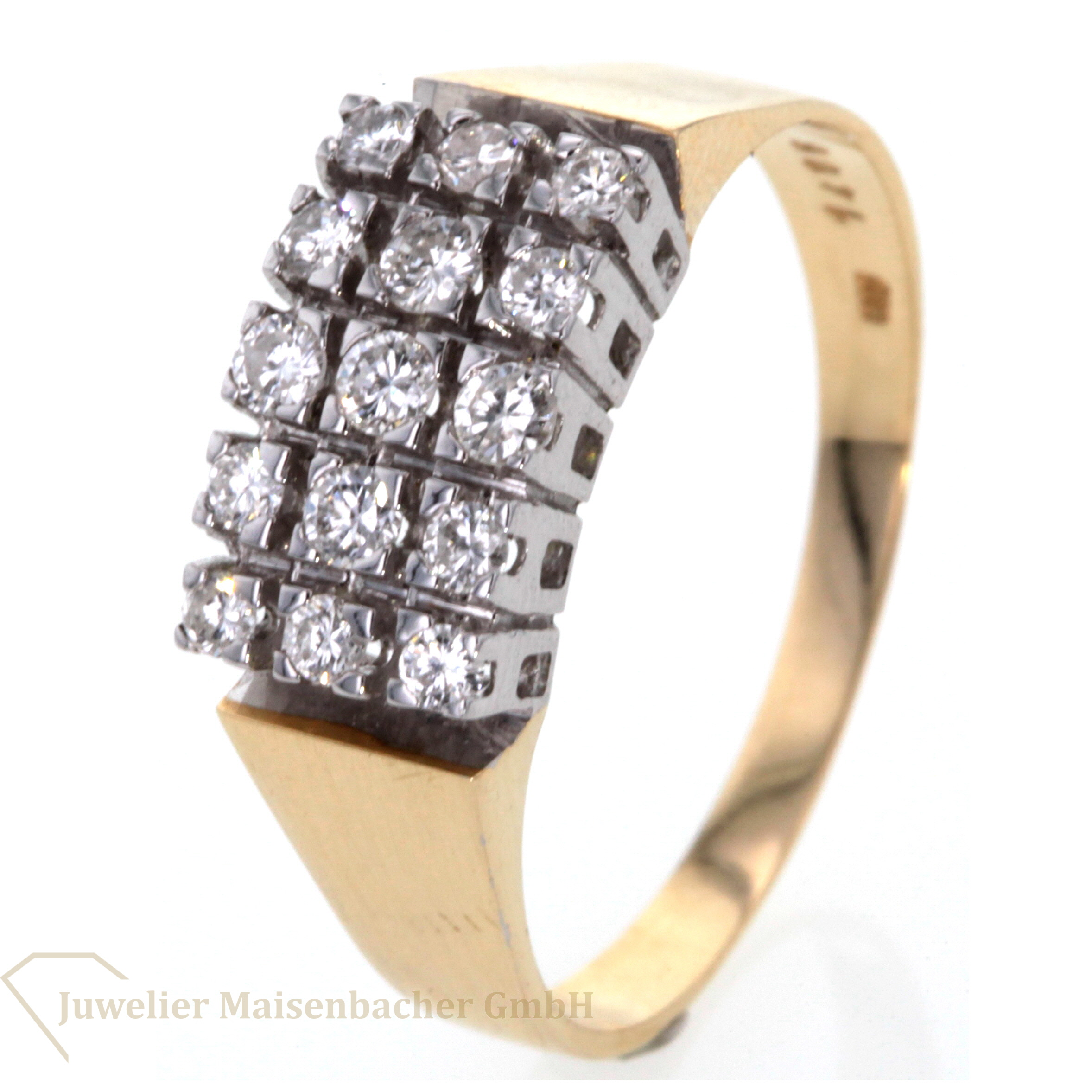 brillantring 15 diamanten jetzt online kaufen juwelier maisenbacher. Black Bedroom Furniture Sets. Home Design Ideas