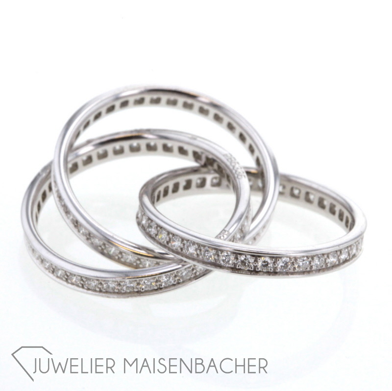 Ring Trinity De Cartier Diamanten Weissgold Ebay