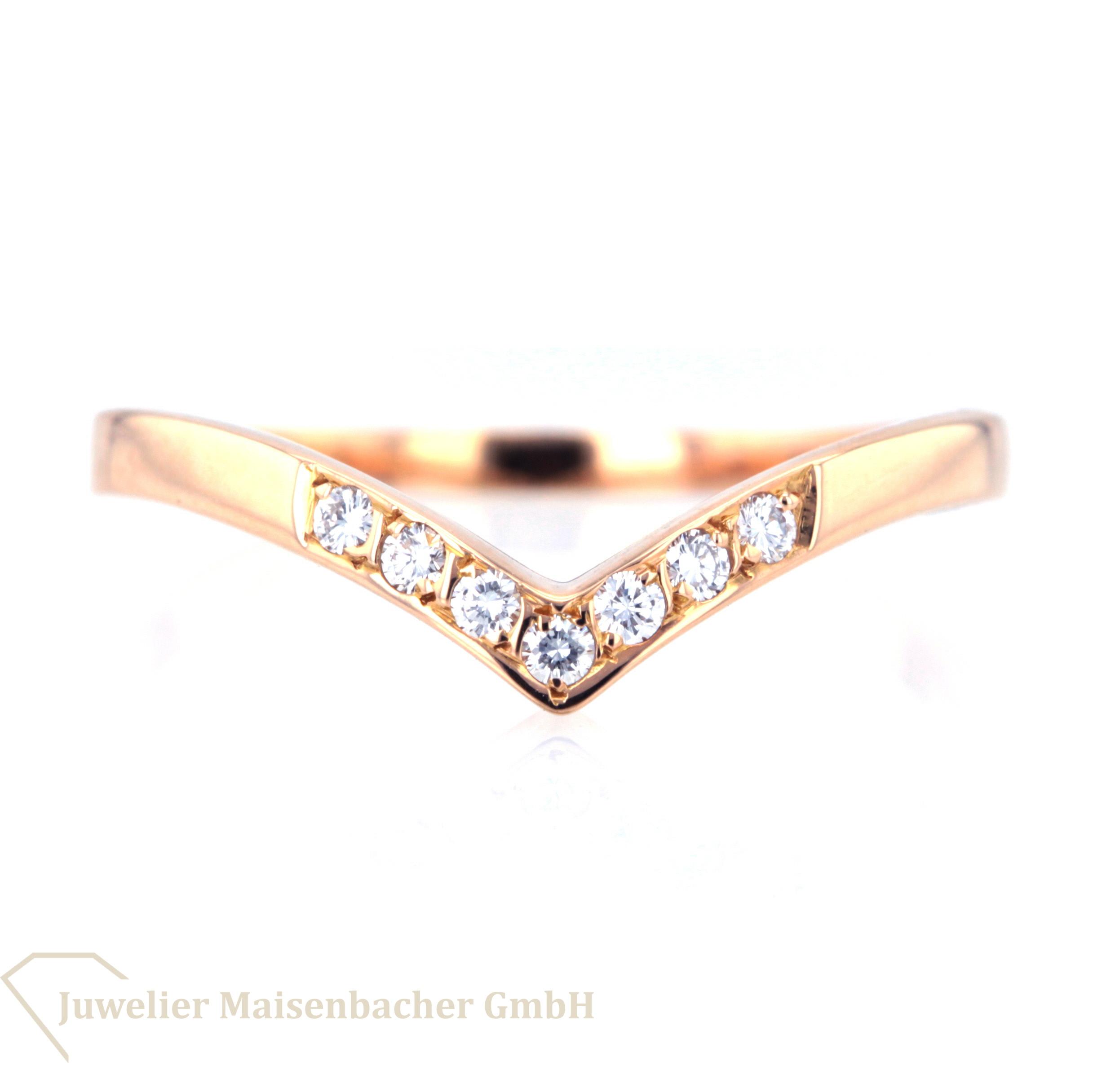 Diamantring rosegold  Diamantring 750 Roségold mit 7 Diamanten | Juwelier Maisenbacher