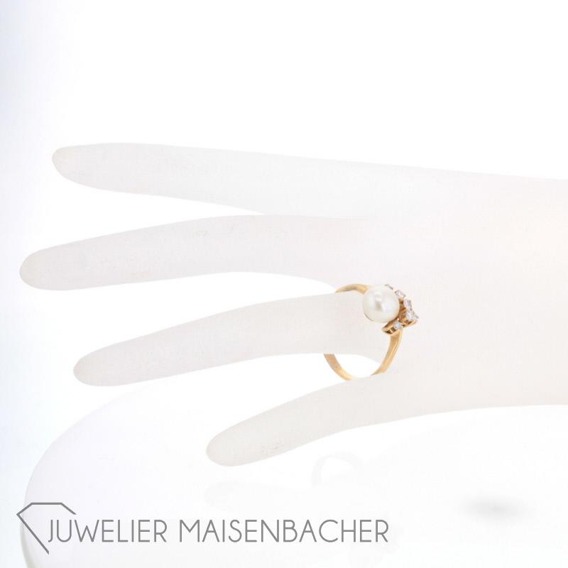 perlring mit diamanten jetzt online kaufen juwelier maisenbacher. Black Bedroom Furniture Sets. Home Design Ideas