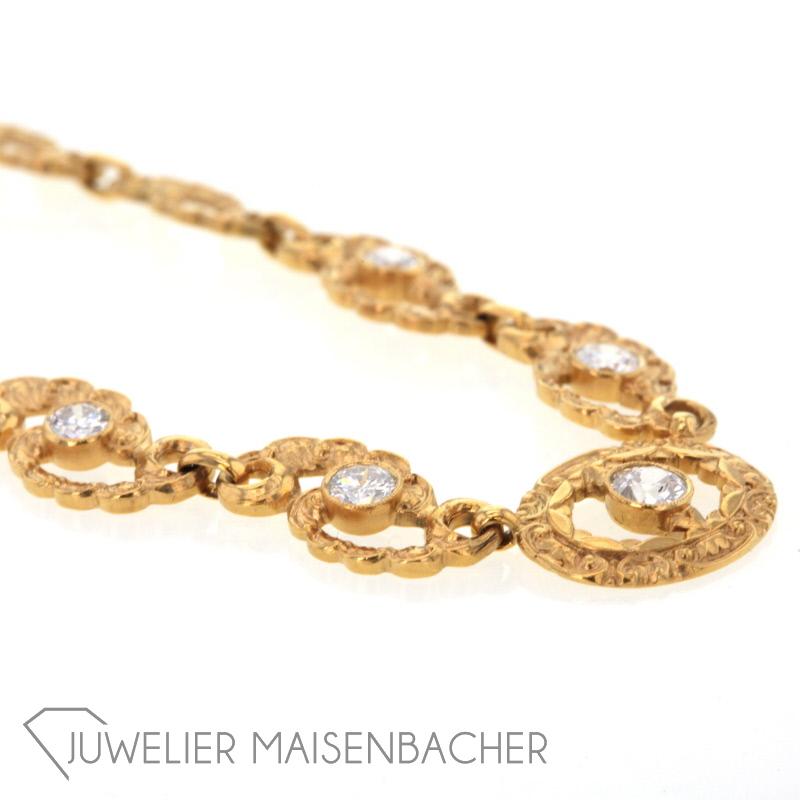 Collier gold mit brillanten