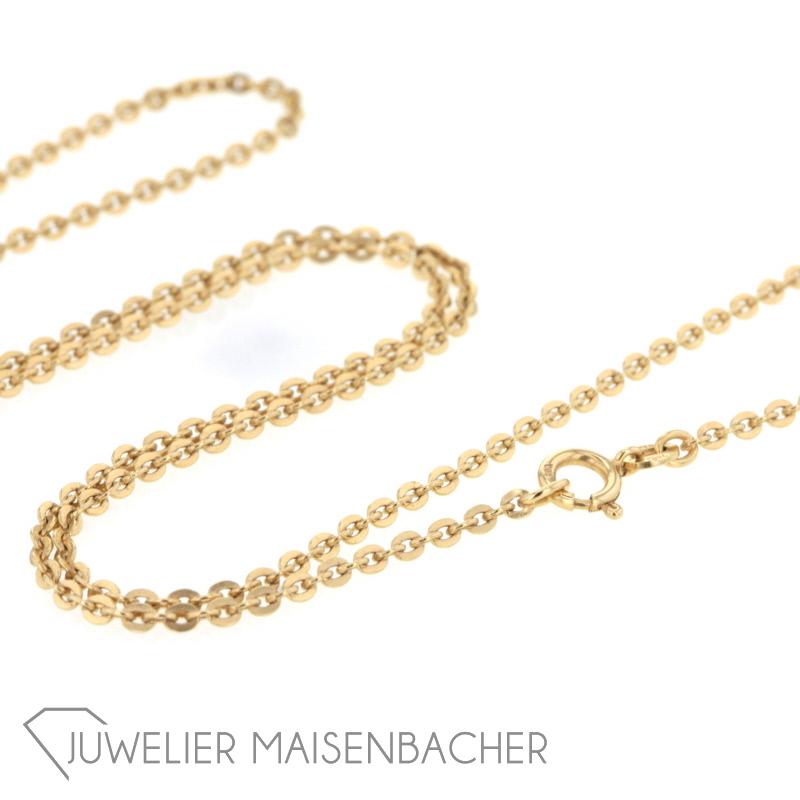 goldkette ohne anh nger 18k 750 gelbgold 60 cm ebay. Black Bedroom Furniture Sets. Home Design Ideas