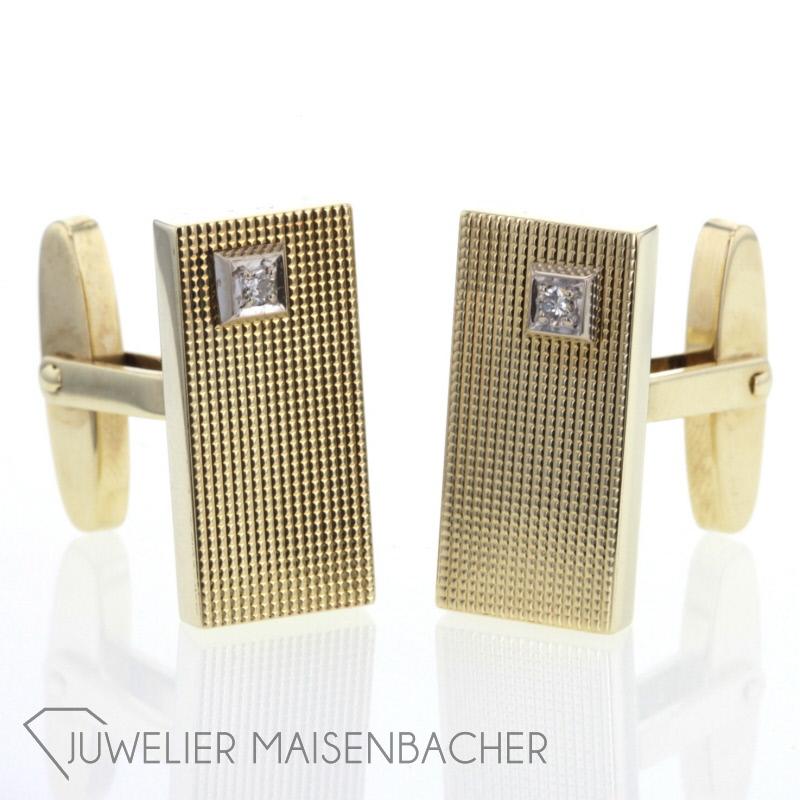 manschettenkn pfe strukturiert gold diamanten jetzt online kaufen juwelier maisenbacher. Black Bedroom Furniture Sets. Home Design Ideas