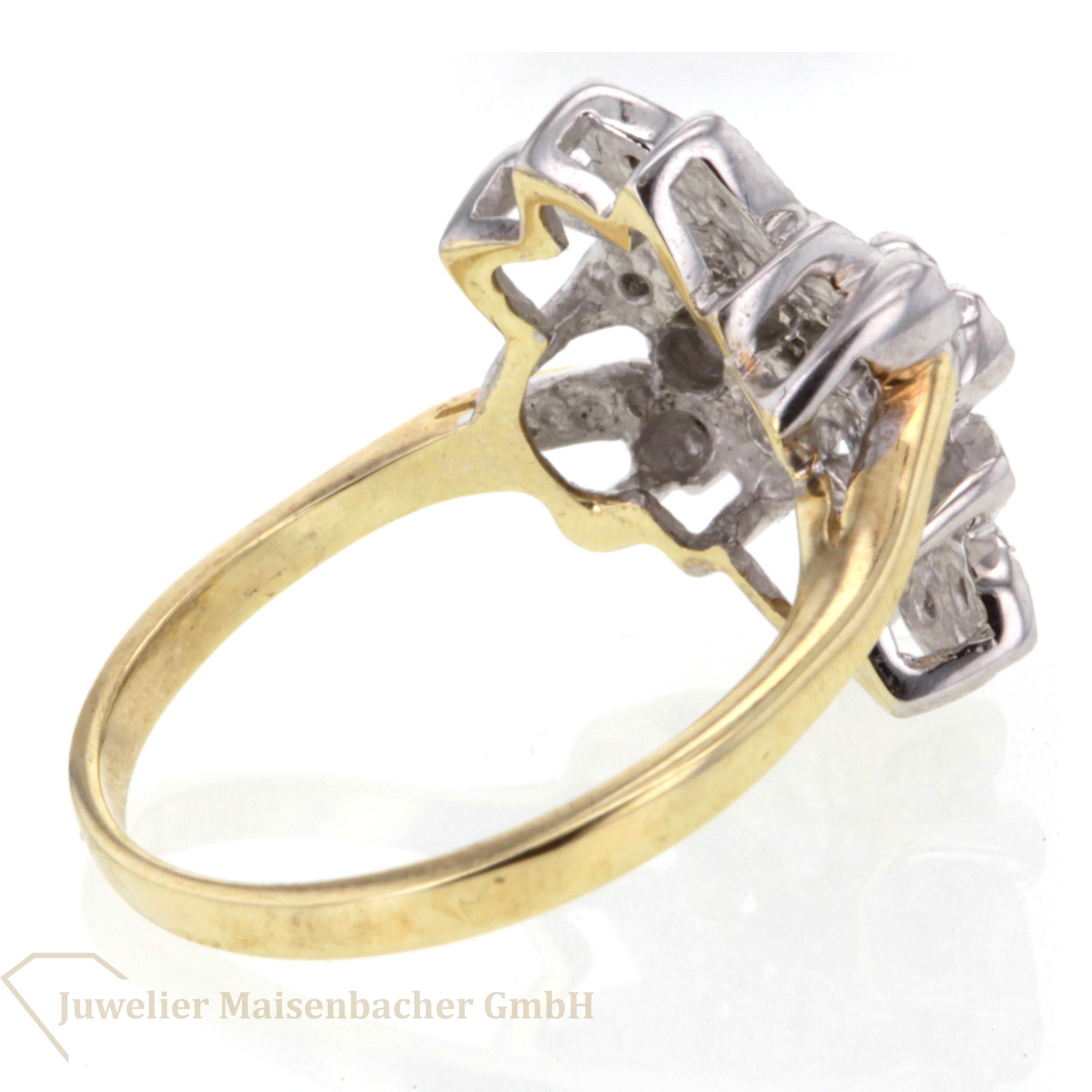Diamantring gold  Diamantring Gold Blätter JETZT online kaufen!   Juwelier Maisenbacher