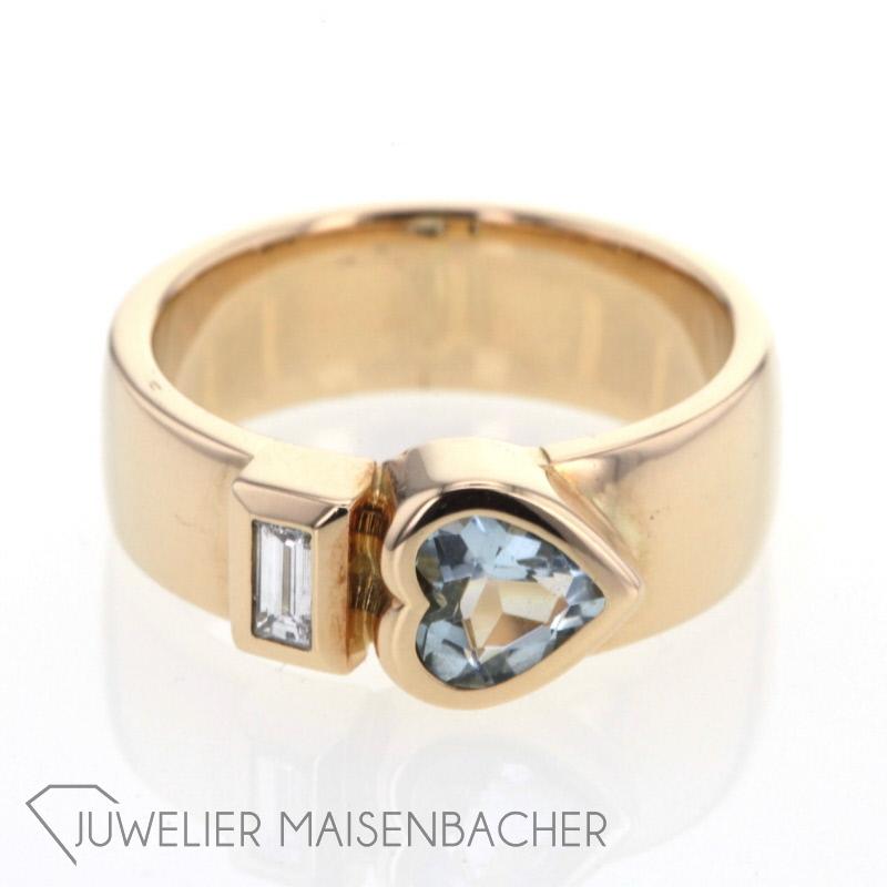Ring Herz Aquamarin Gold Jetzt Online Kaufen Juwelier Maisenbacher