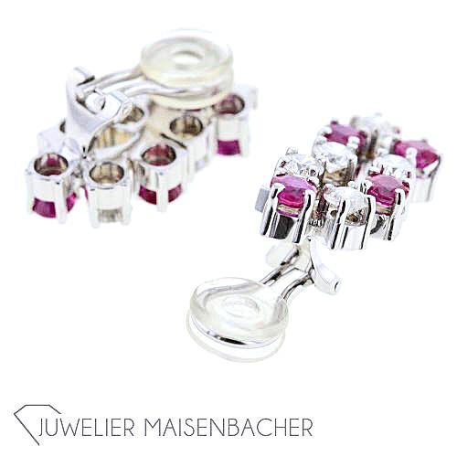 goldschmiede sasek schmuckset mit rubinen und diamanten jetzt online kaufen juwelier maisenbacher. Black Bedroom Furniture Sets. Home Design Ideas