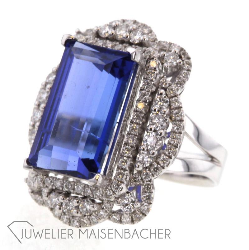 statementring tansanit diamanten wei gold jetzt online kaufen juwelier maisenbacher. Black Bedroom Furniture Sets. Home Design Ideas
